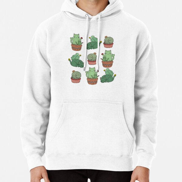 Cactus Cats Pullover Hoodie