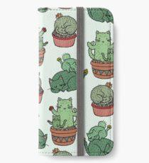 Kaktus Katzen iPhone Flip-Case/Hülle/Skin