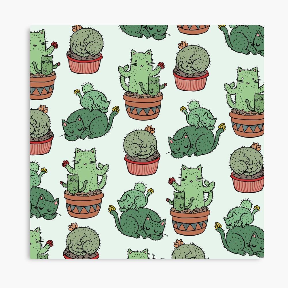 Cactus Cats Canvas Print