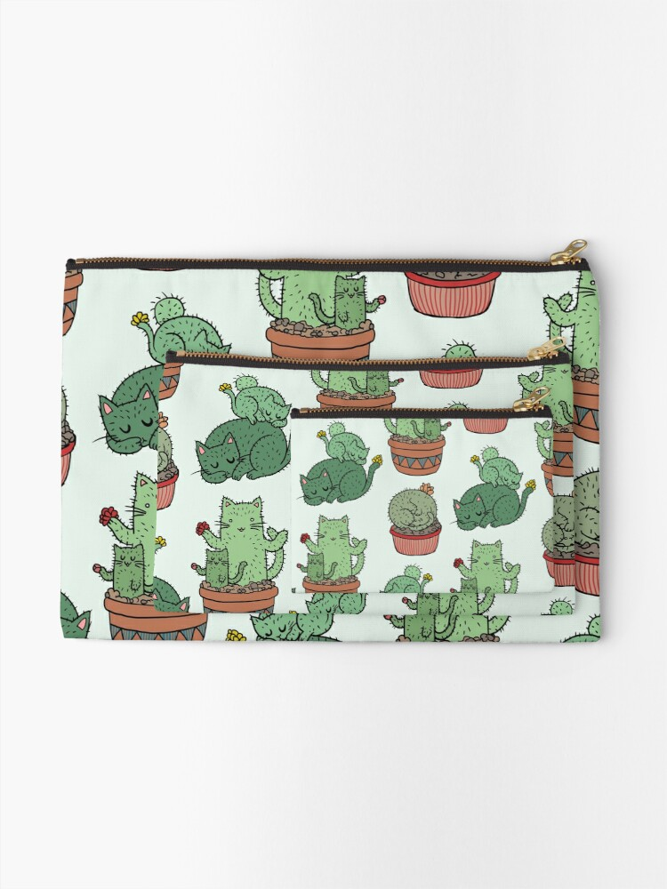 Alternate view of Cactus Cats Zipper Pouch