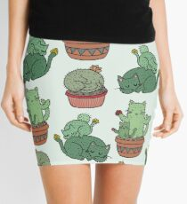 Cactus Cats Mini Skirt