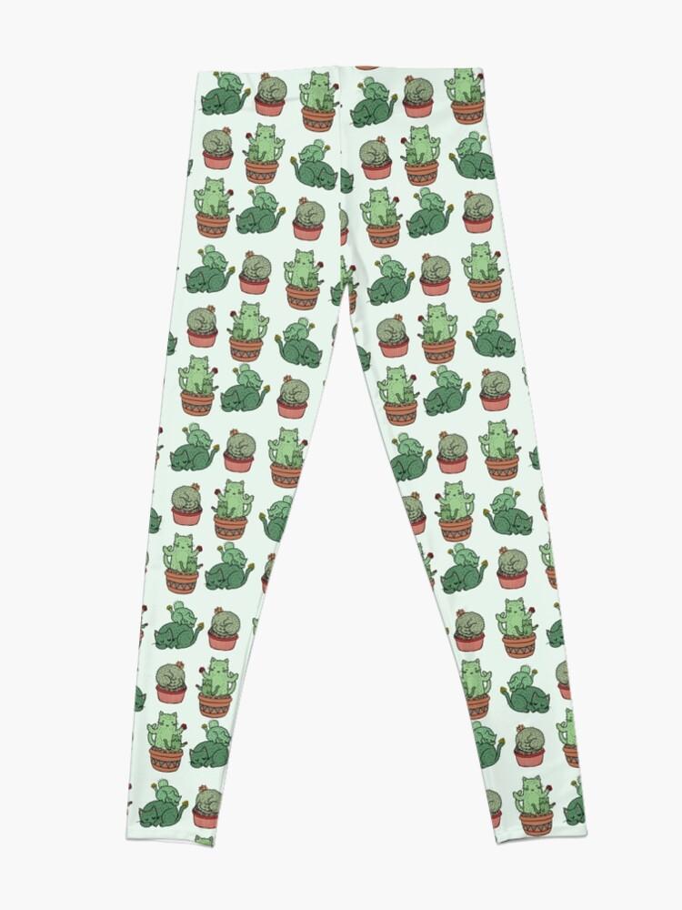 Alternative Ansicht von Kaktus Katzen Leggings