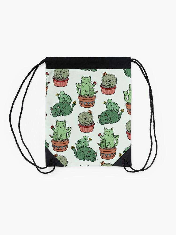 Alternative Ansicht von Kaktus Katzen Turnbeutel