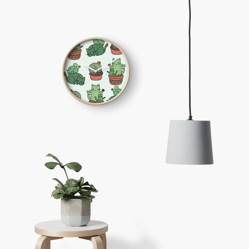 Cactus Cats Clock