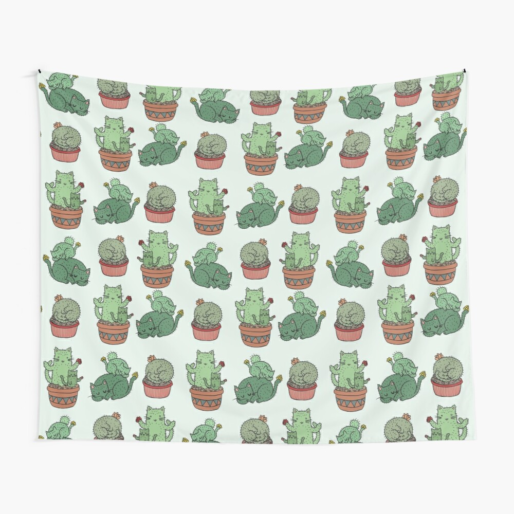 Cactus Cats Wall Tapestry