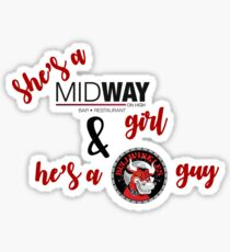 Midway and Bullwinkles Sticker