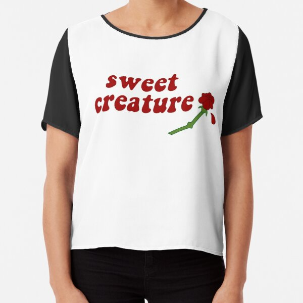 Sweet Creature Rose Design Chiffon Top