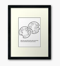 Gallifreyan - Game of Thrones Quote  Framed Print
