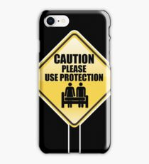 CAUTION iPhone Case/Skin