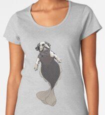 Blithe the Boston Terrier Merpup Women's Premium T-Shirt