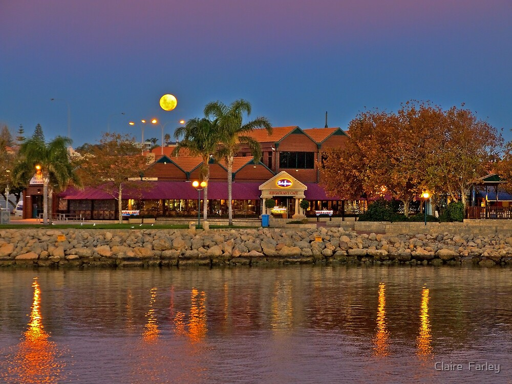 Hillarys Moonrise by Claire  Farley