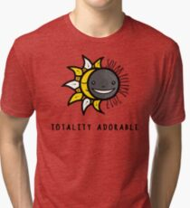 Solar Eclipse 2017 Shirt - Totality Adorable - August 21, 2017 - White Tri-blend T-Shirt