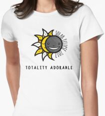 Solar Eclipse Shirt - Totality Adorable - August 21, 2017 - White Womens Fitted T-Shirt