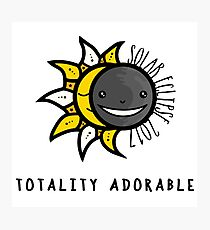 Solar Eclipse 2017 Shirt - Totality Adorable - August 21, 2017 - White Photographic Print