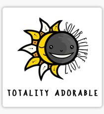 Solar Eclipse 2017 Shirt - Totality Adorable - August 21, 2017 - White Sticker
