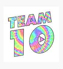 Team 10 Tie Dye Jake Paul Photographic Print