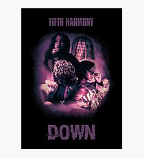 FIFTH HARMONY - DOWN purple text Photographic Print