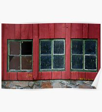 Windows with Weathered Charm Poster