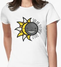 Solar Eclipse Shirt  - August 21, 2017 - Minimal Colors Womens Fitted T-Shirt