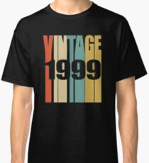 Vintage 1999 Birthday Retro Design  Classic T-Shirt