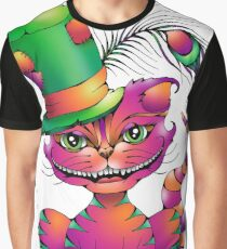 Peacock in His Hat Cheshire Cat  Graphic T-Shirt