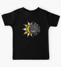 Solar Eclipse Shirt  - August 21, 2017 - Minimal Colors Black Kids Tee