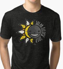 Solar Eclipse Shirt  - August 21, 2017 - Minimal Colors Black Tri-blend T-Shirt