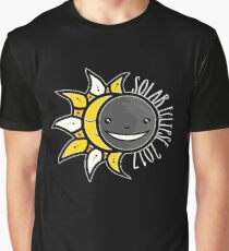 Solar Eclipse Shirt  - August 21, 2017 - Minimal Colors Black Graphic T-Shirt