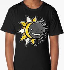 Solar Eclipse Shirt  - August 21, 2017 - Minimal Colors Black Long T-Shirt