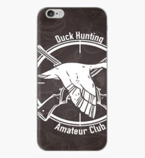 Duck Hunting Amateur club iPhone Case