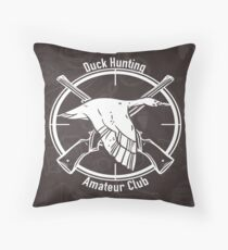 Duck Hunting Amateur club Throw Pillow