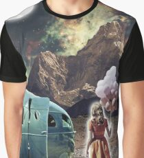 Girl With Ballons Graphic T-Shirt