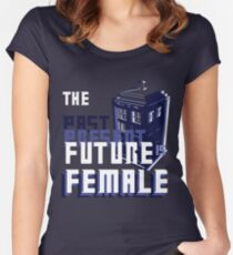 The Past-Present-Future Is Female (TARDIS) Women's Fitted Scoop T-Shirt