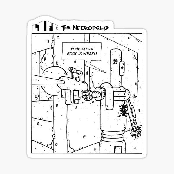 Life The Necropolis: Gordy Sticker