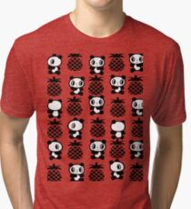Pandas And Pineapples Pattern 2 Tri-blend T-Shirt