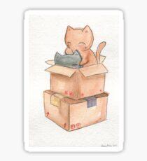 Kitties in a Box Sticker