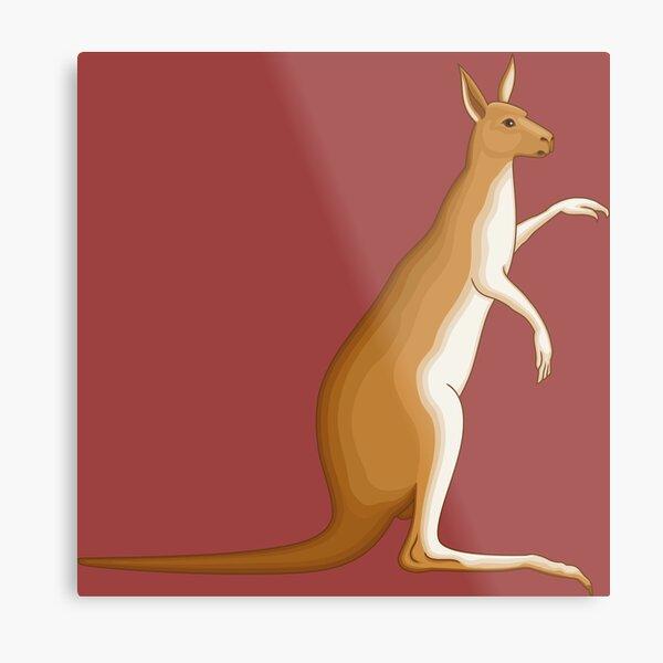 Kangaroo Cartoon Land Metal Print