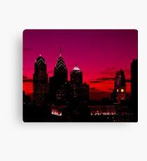 Philadelphia Skyline Sonnenuntergang Leinwanddruck