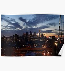 Philadelphia Skyline At Night Poster
