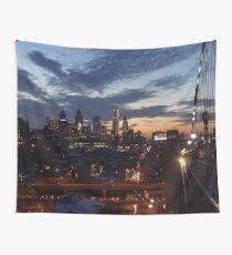 Philadelphia Skyline At Night Wall Tapestry