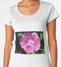 Pink summer flower blossom (Macro Close-Up) Women's Premium T-Shirt