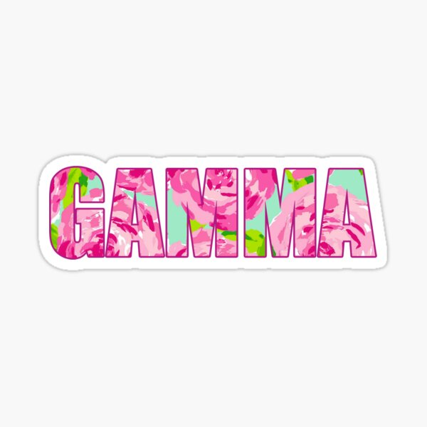 Lilly Pulitzer Gamma Sticker