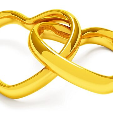 Gold hearts bond by Vitalia