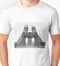 Eiffel Tower Construction Unisex T-Shirt