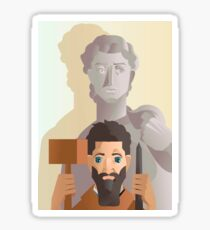 great sculture and renaissance artist Sticker