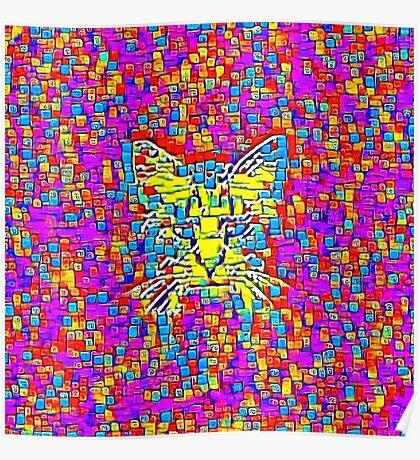 Lemon Cat Poster