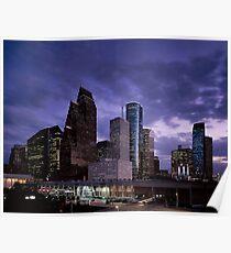 Houston Night Skyline  Poster