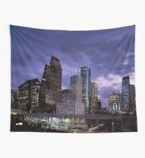 Houston Night Skyline  Wall Tapestry