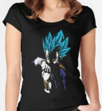 Dragon Ball Super - Vegeta Super Saiyan Blue Women's Fitted Scoop T-Shirt