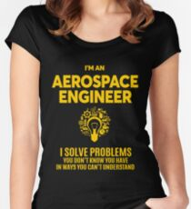 AEROSPACE ENGINEER BEST DESIGN 2017 Women's Fitted Scoop T-Shirt